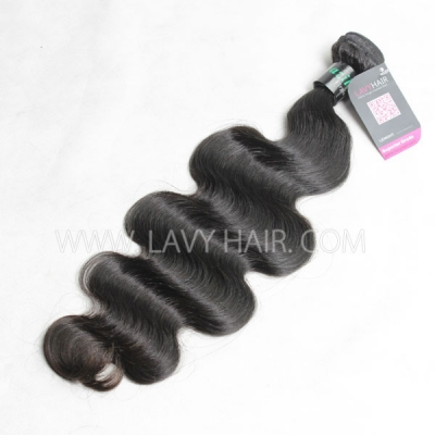 Superior Grade 1 bundle body wave Virgin Human hair extensions Brazilian Peruvian Malaysian Indian European Cambodian Burmese Mongolian