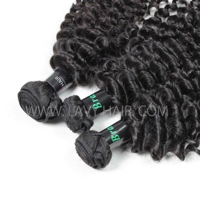 Superior Grade mix 3 or 4 bundles Brazilian Deep Curly Virgin Human Hair Extensions