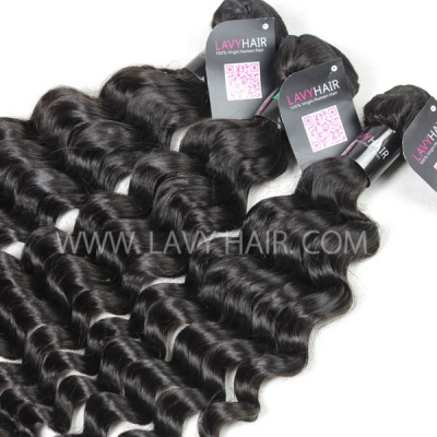 Superior Grade 1 Bundle Brazilian Deep Wave Virgin Human Hair Extensions