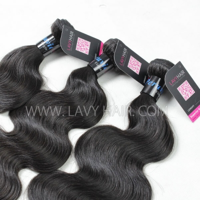 Superior Grade mix 4 bundles with lace closure Peruvian Body Wave Virgin Human hair extensions