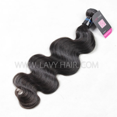 Superior Grade 1 bundle Peruvian body wave Virgin Human hair extensions