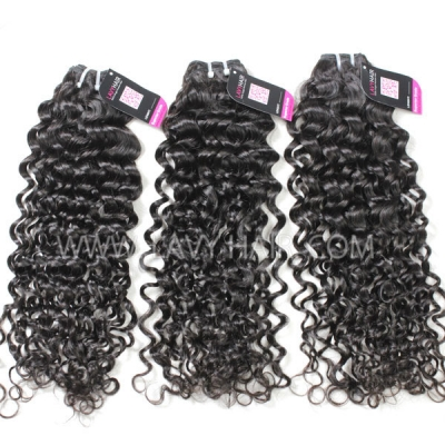 Superior Grade mix 3 or 4 bundles Brazilian Italian Curly Virgin Human Hair Extensions