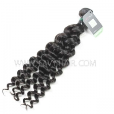 Regular Grade 1 Bundle Brazilian Deep Wave Virgin Human Hair Extensions