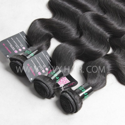 Superior Grade mix 4 bundles with lace closure Brazilian Body wave Virgin Human hair extensions