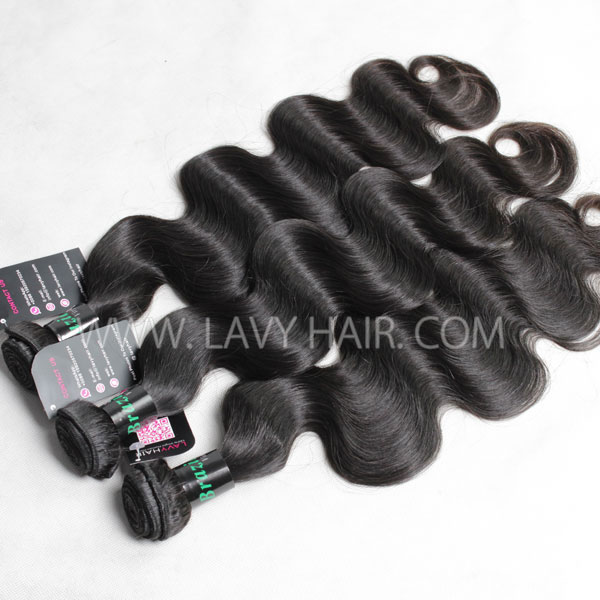 "Superior Grade 4 bundles with silk base closure 4*4"" Body wave Virgin hair Brazilian Peruvian Malaysian Indian European Cambodian Burmese Mongolian"