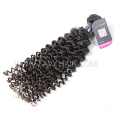 Superior Grade 1 bundle Peruvian Deep Curly Virgin Human hair extensions
