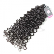 Superior Grade 1 bundle Peruvian Italian curly Virgin Human hair extensions