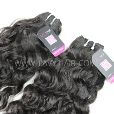 Superior Grade 1 bundle Peruvian Natural Wave Virgin Human Hair Extensions