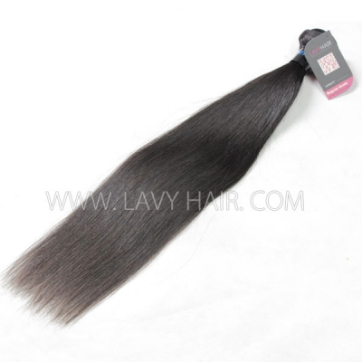 Superior Grade 1 bundle Peruvian Straight Virgin Human Hair Extensions
