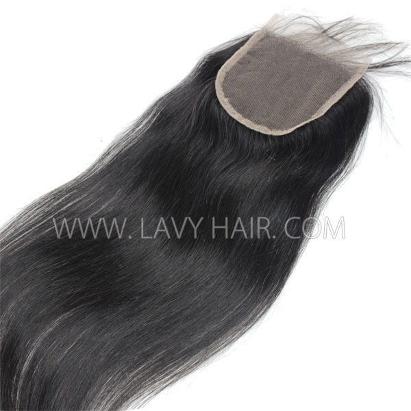"Lace top closure 5*5"" Straight Hair Human hair medium brown Swiss lace"