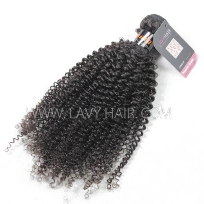 Superior Grade 1 bundle Indian Kinky Curly Virgin Human hair extensions