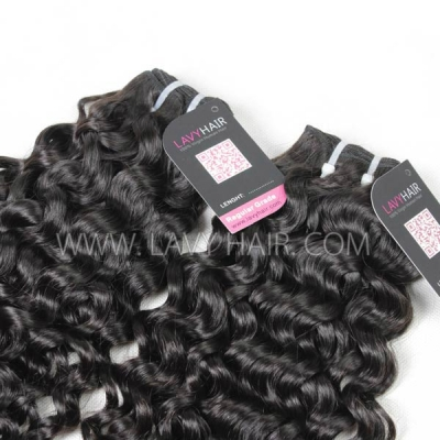 Superior Grade 1 Bundle Indian Italian Curly Virgin Human Hair Extensions
