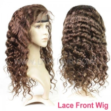 4# 100% Human hair lace front wigs 130% density loose wave