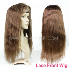 4# 100% Human hair lace front wigs 130% density straight hair