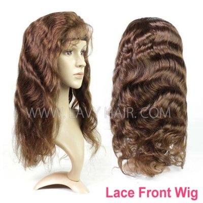 4# Lace Frontal Wigs 130% Density Body Wave Human Hair
