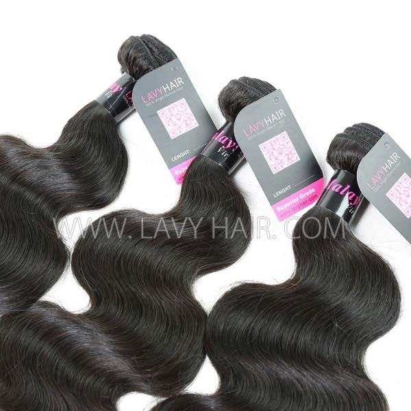 Superior Grade 1 bundle Malaysian body wave Virgin Human hair extensions