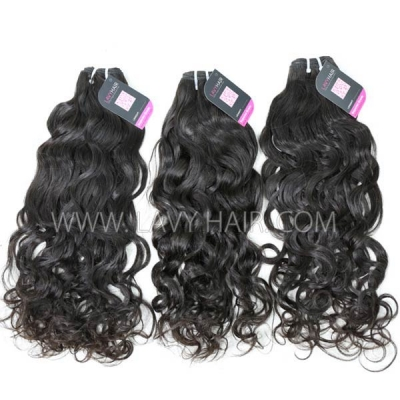 Superior Grade mix 4 bundles with lace closure Malaysian natural wave Virgin Human hair extensions