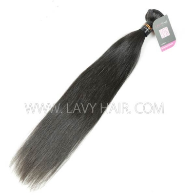Superior Grade 1 bundle Burmese Straight Virgin Human hair extensions