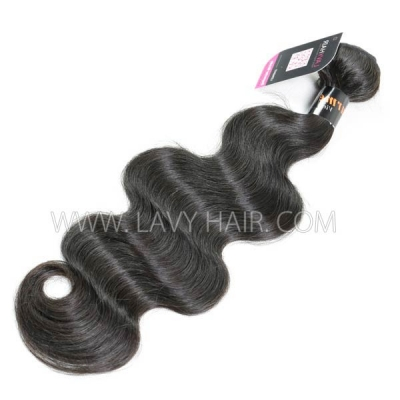 Superior Grade 1 bundle Burmese body wave Virgin Human hair extensions