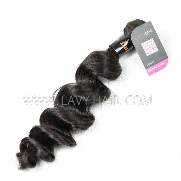 Superior Grade 1 Bundle Burmese Loose Wave Virgin Human Hair Extensions