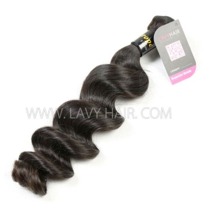 Superior Grade 1 bundle European loose wave Virgin Human hair extensions