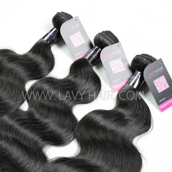"Superior Grade mix 3 bundles with silk base closure 4*4"" Mongolian Body wave Virgin Human hair extensions"