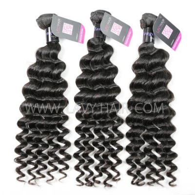 Superior Grade mix 3 or 4 bundles Mongolian Deep wave Virgin Human Hair Extensions