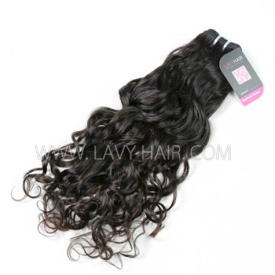 Superior Grade 1 bundle European natural wave Virgin Human hair extensions