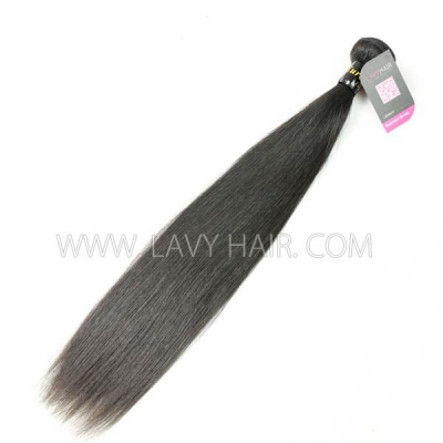Superior Grade 1 bundle European Straight Virgin Human Hair Extensions