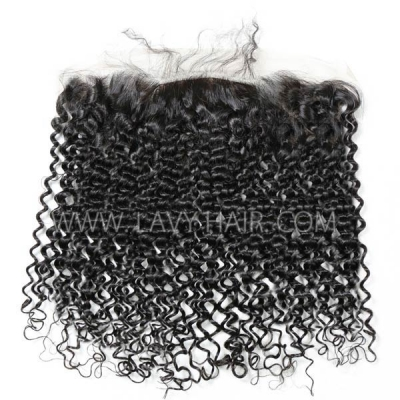 Silk Base Frontal (13*4)  Deep curly hair Human medium brown