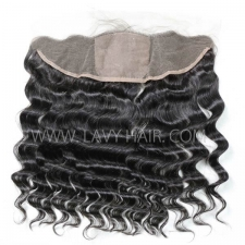 Silk Base Frontal (13*4) Loose Wave Human medium brown