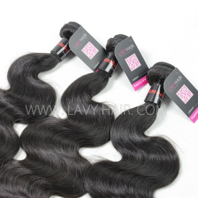 Superior Grade mix 4 bundles with lace closure Cambodian Body Wave Virgin Human hair extensions