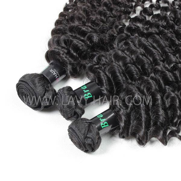 "Superior Grade mix 4 bundles with silk base closure 4*4"" Brazilian Deep Curly Virgin Human hair extensions"