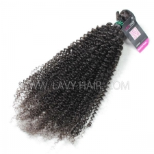Superior Grade 1 bundle Brazilian Kinky Curly Virgin Human hair extensions