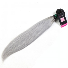 Superior Grade 1 bundle Brazilian Straight Ombre Silver Gray Human hair extensions