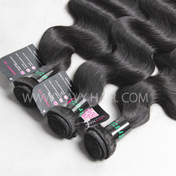 Superior Grade mix 3 bundles with 13*4 lace frontal closure Brazilian Body wave Virgin Human hair extensions