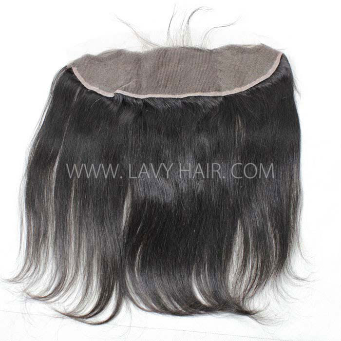 Superior Grade 3 bundles with 13*4 lace frontal closure Brazilian Straight Virgin Human Hair Extensions