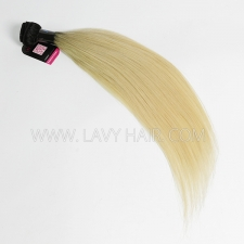 Superior Grade 1 bundle Peruvian Straight Ombre 1B/ 613 Human hair extensions