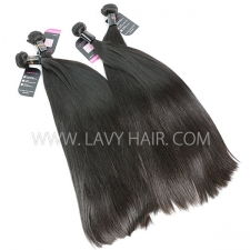 Double Drawn Superior Grade mix 3 or 4 bundles Burmese Straight Virgin Human Hair Extensions