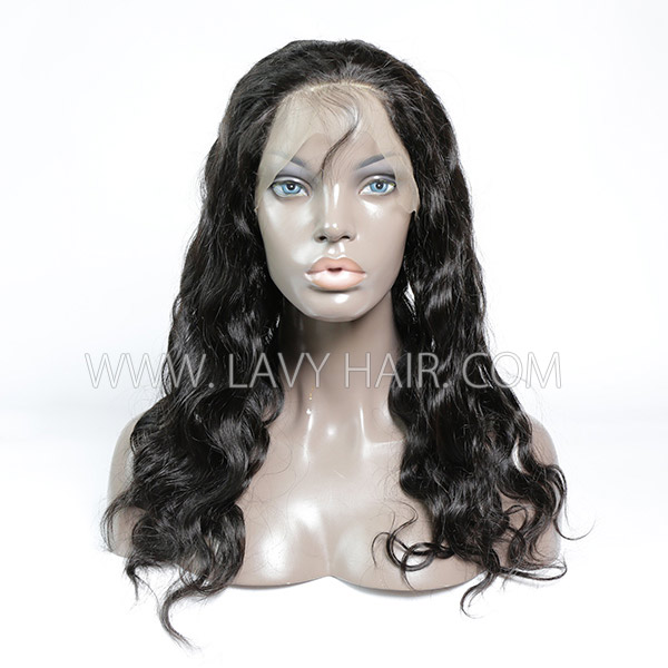 #1B Color 360 Lace Frontal Body Wave Human hair Swiss lace