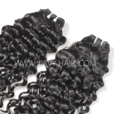 Superior Grade mix 4 bundles with lace closure Cambodian Italian Curly Virgin Human hair extensions