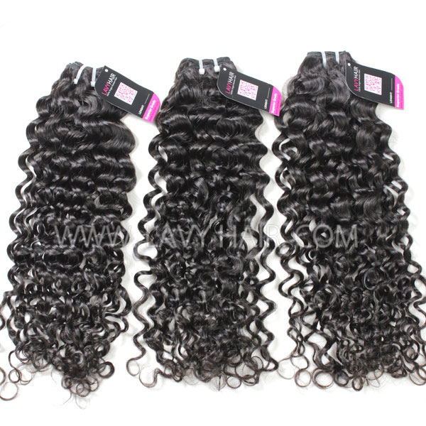 Superior Grade mix 3 bundles with lace closure European Italian Curly Virgin Human hair extensions