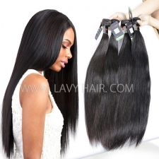 Regular Grade mix 3 or 4 bundles Cambodian Straight Virgin Human hair extensions