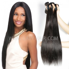 Regular Grade mix 3 or 4 bundles Burmese Straight Virgin Human hair extensions