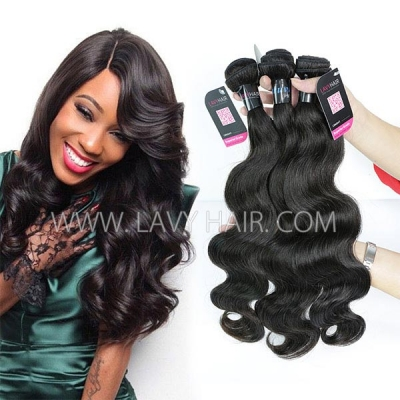 Superior Grade mix 3 or 4 bundles Peruvian Body Wave Virgin Human hair extensions