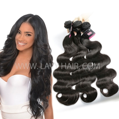 Superior Grade mix 3 or 4 bundles Mongolian body wave Virgin Human hair extensions