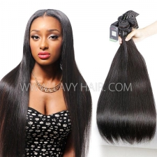 Regular Grade mix 3 or 4 bundles Mongolian Straight Virgin Human hair extensions