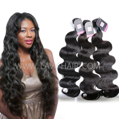 Superior Grade mix 3 or 4 bundles Burmese Body Wave Virgin Human hair extensions
