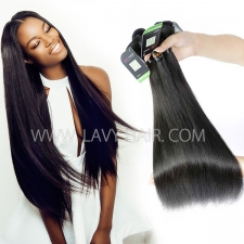 Regular Grade mix 3 or 4 bundles Indian Straight Virgin Human hair extensions