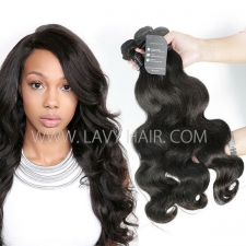 Regular Grade mix 3 or 4 bundles Indian Body wave Virgin Human Hair Extensions